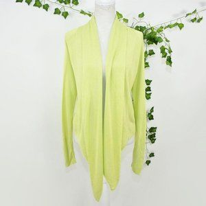 Chico's lime green light sweater cardigan 0